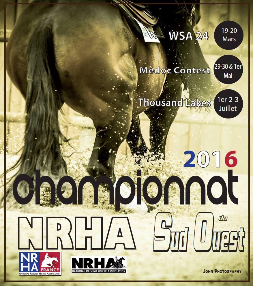 affiche championnat régional NRHA SUD OUEST 2016